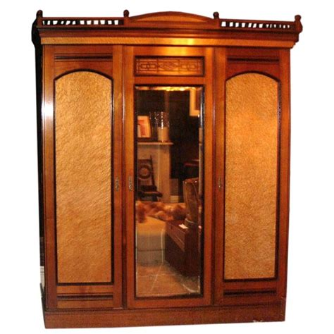 triple armoire a fine aesthetic period triple door wardrobe armoire at