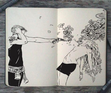sketchbook we it les dessins noir et blanc incroyables au crayon et au stylo