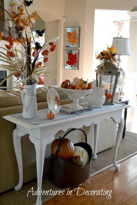 sofa table decor fall sofa table decor
