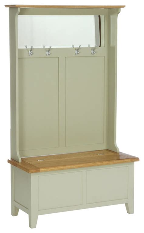 hall bench storage unit caldecote french grey storage unit with mirror country