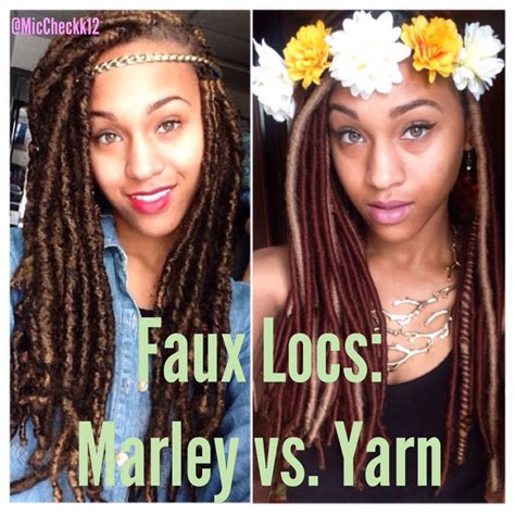 twists vs dreads faux locs marley locs vs yarn locs ig miccheckk12