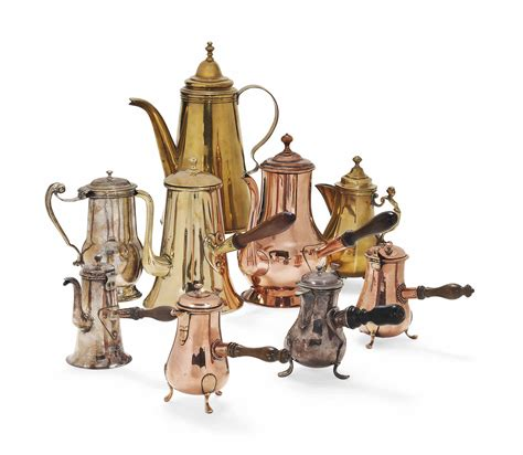 collection  brass  copper coffee  chocolate pots