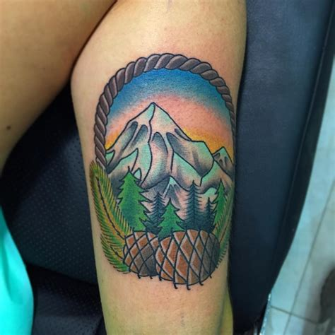 mountain tattoos 60 fabulous mountain designs for all ages