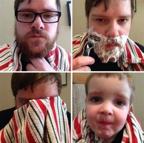 After Shave Meme - 9 bearded men who look dramatically different after