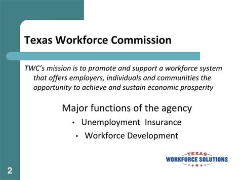texas workforce commission labor law section ppt texas workforce solutions powerpoint presentation