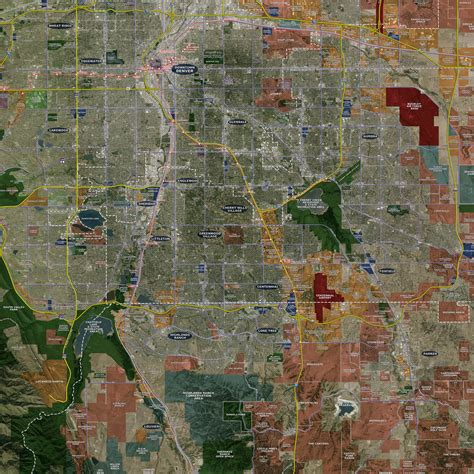 map usa rolled denver rolled aerial map landiscor real estate mapping