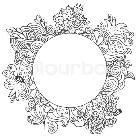 free doodle border vector floral vector doodle card design border