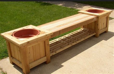 natty concept  cool garden bench planter plans design