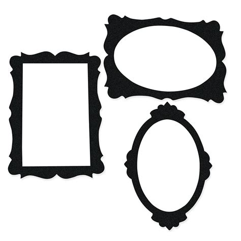 Black Picture Frame Cutouts Photo Booth Props Costume Accessories Costumes Accessories Frame Prop Template Free