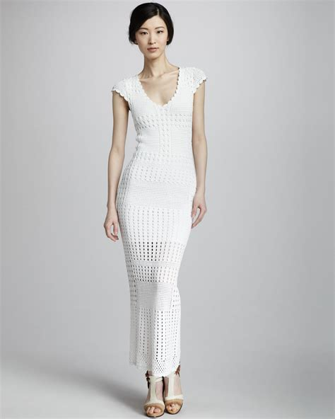 Chaterine Dress lyst catherine malandrino crochet dress in white