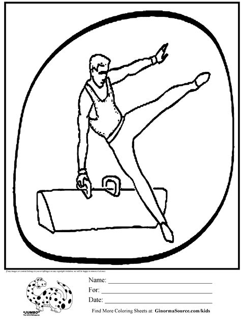 olympic gymnastics coloring page olympic gymnastics pummel horse coloring page kids