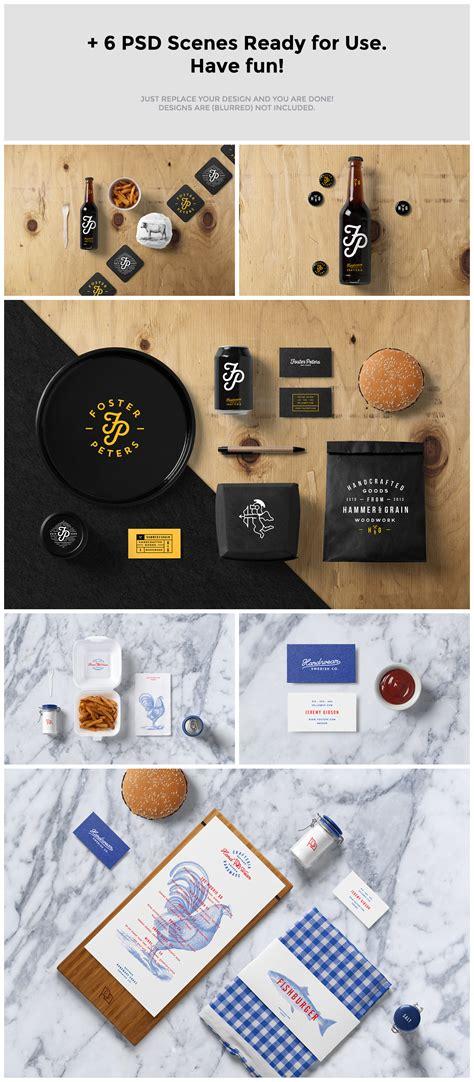 material design mockup creator burger bar stationery mock up psdblast