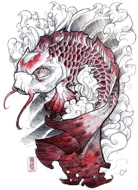 coy fish tattoo 30 koi fish designs with meanings