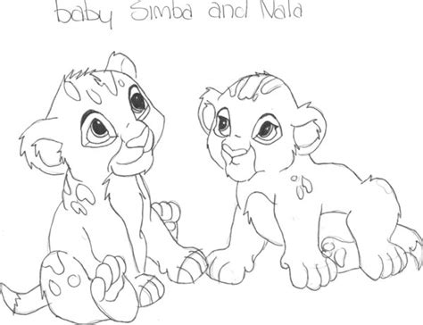coloring pages of baby simba baby simba and nala by livelaughlove101 on deviantart