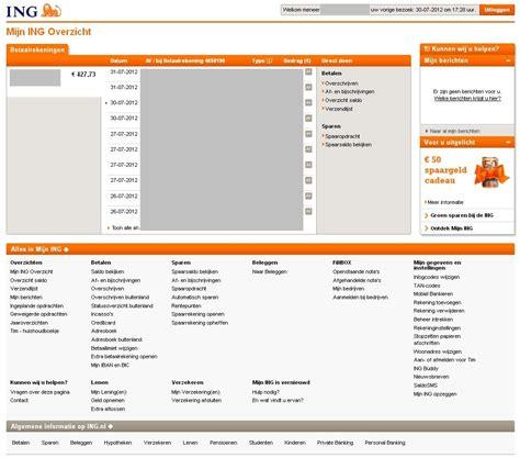 ing bank nl ing inloggen