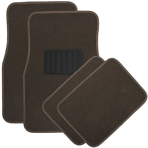4pc solid color floor mats set universal fit car truck suv van ebay