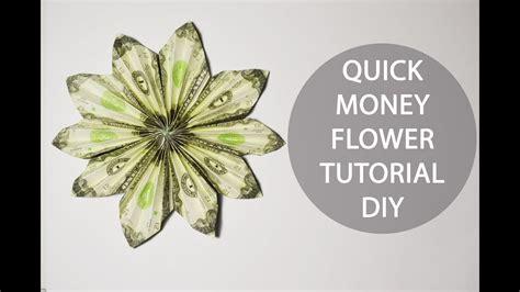 Origami Money Flower Tutorial - money flower origami dollar folded tutorial diy
