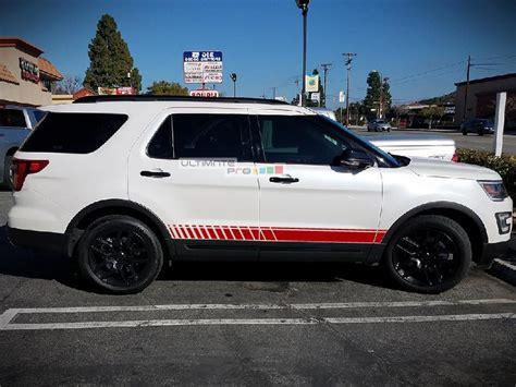 decal sticker vinyl  side stripes compatible  ford explorer   ultimateprocy