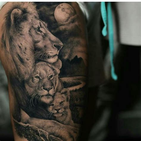 lion and cub tattoo tattoos tattoos and designs