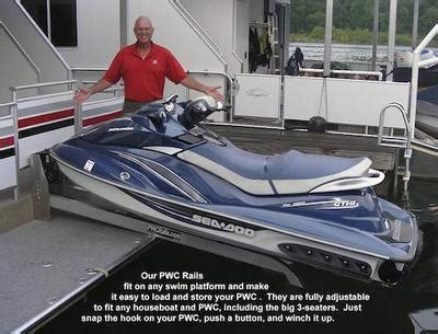 used sea doo boat lifts for sale houseboat pwc rails jet ski lift dual sea doo s on your