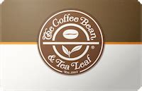 Coffee Bean Gift Card - the coffee bean gift card ebay promotion save 125 for buying 1250