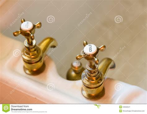 Bathtub Renew Antique Bath Taps Or Faucets Royalty Free Stock