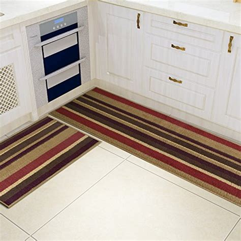 kitchen rugs with rubber backing 2 non slip kitchen mat rubber backing doormat runner rug set ebay