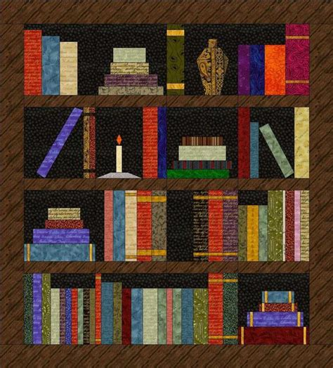 bookshelf quilt pattern items similar to paper pieced quilt pattern bookshelf