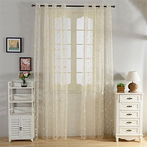 window curtains 54 inch length top finel window treatments embroidered polka dot sheers