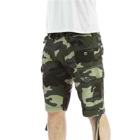 army pattern cargo shorts mens cargo shorts crosshatch forest camo army camouflage