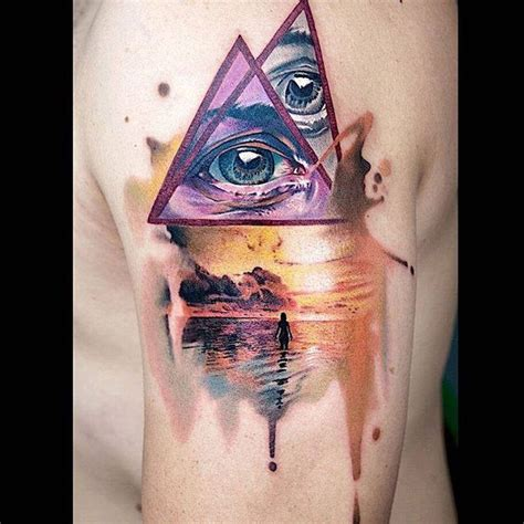 impressionist tattoo amazing modern inspired combining a realistic