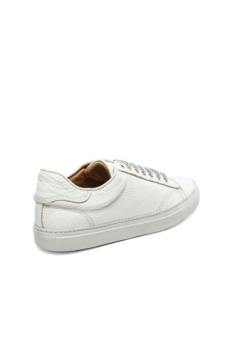 wings horns sneakers wings horns leather low top sneaker in white for lyst