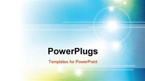 powerpoint template a bluish background with sunlight and