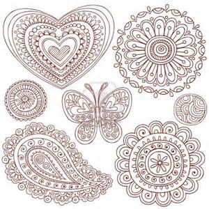 free doodle designs free coloring pages of mehndi patterns