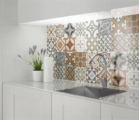 decorative kitchen backsplash tiles the kitchen more unique and interesting by