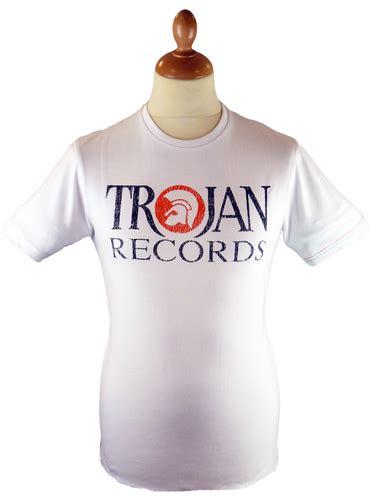 Tshirt Trojan Exclusive lambretta trojan records northern soul retro mod white