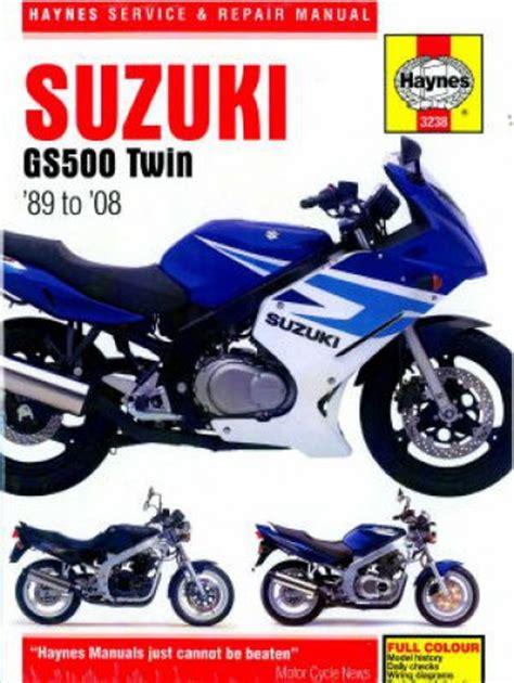 Suzuki Gs500e 1989 2008 Haynes Motorcycle Repair Manual