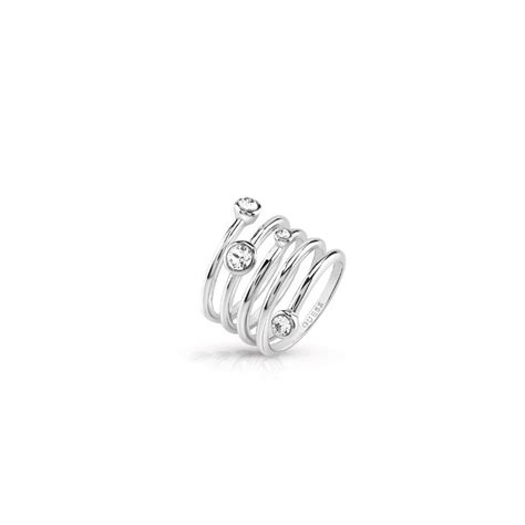 Guess Silver guess silver layered ring jewellery from