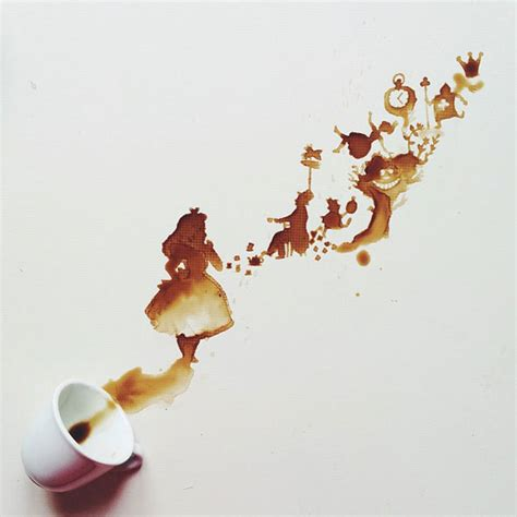 Cool Espresso Cups Spilled Coffee Art Is A Wonderful Accident Foodiggity