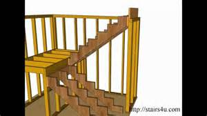 How to build and frame stairs landings u shaped stairs youtube