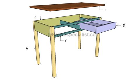 Plans For Building A Computer Desk Computer Desk Plans Howtospecialist How To Build Step By Step Diy Plans
