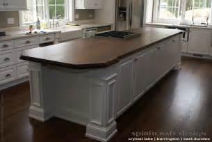 custom walnut slab kitchen island top by spiritcraft design furniture