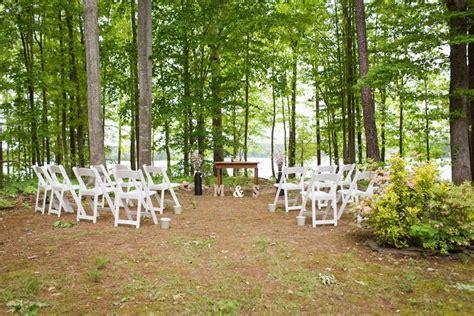 intimate backyard wedding maggie shahul s intimate lakeside backyard wedding in