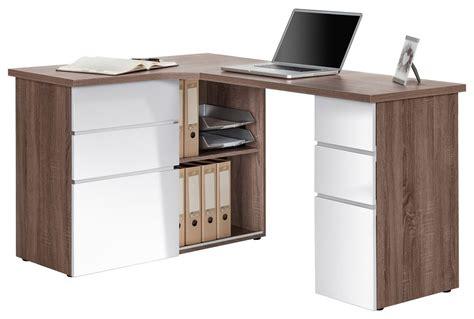 White And Oak Desk by Maja Oxford Truffle Oak White Corner Desk
