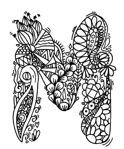 M Drawing Design by Alphabet Quot M Quot Doodle Elephant Bell Drawings