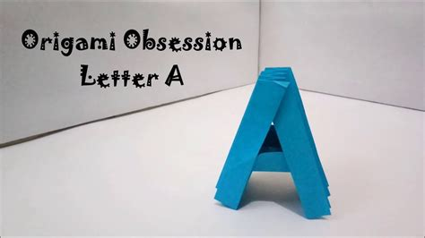 Origami Letter A - origami letter a my crafts and diy projects