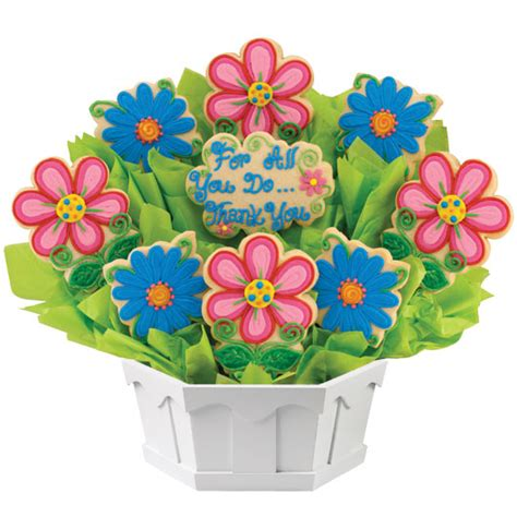blossoms thank you cookie bouquet cookies by design