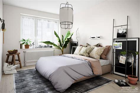 scandinavian style bedroom gallery area  autodesk