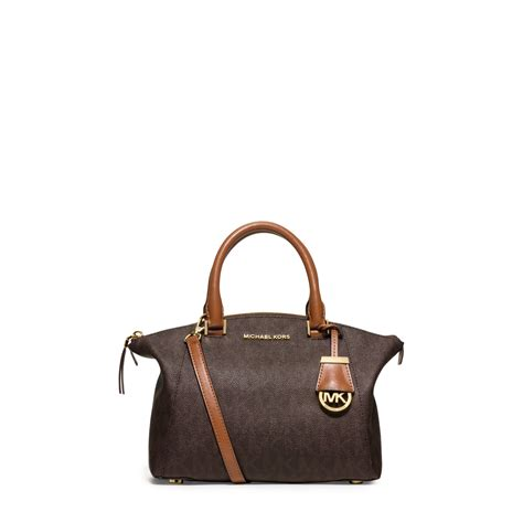 Small Satchel by Lyst Michael Michael Kors Signature Small Satchel
