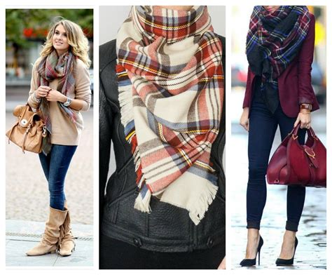 ways to drape a scarf stylehunter collective well plaid 6 ways to wear checks